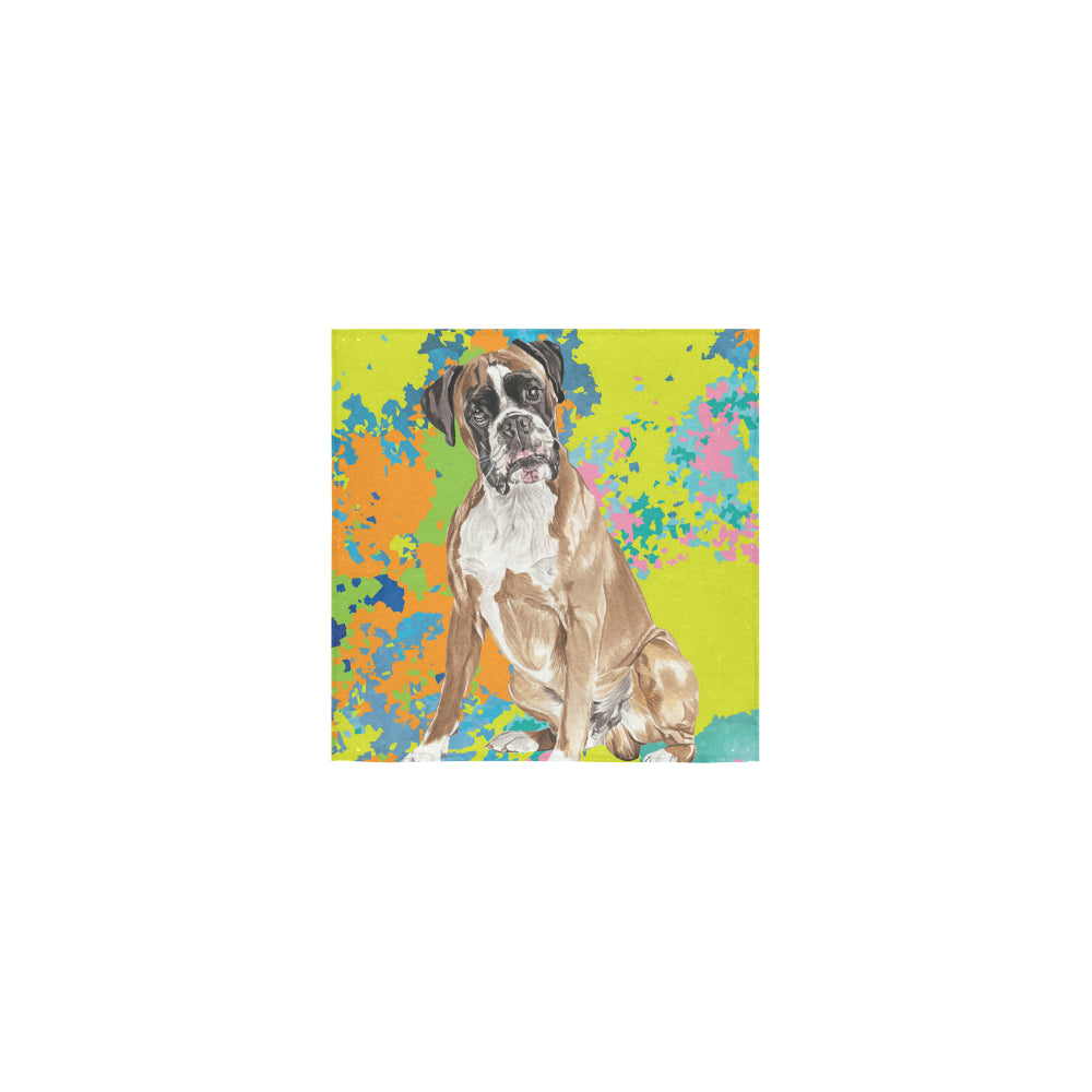 Boxer Water Colour No.2 Square Towel 13x13 - TeeAmazing