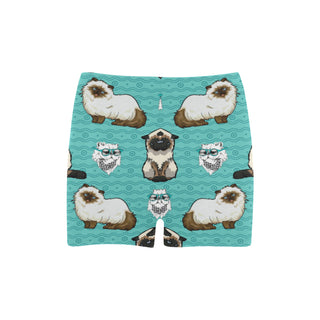 Himalayan Cat Briseis Skinny Shorts (Model L04) - TeeAmazing