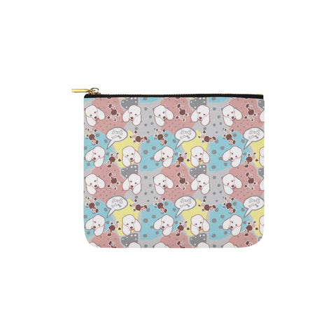 Poodle Pattern Carry-All Pouch 6x5 - TeeAmazing