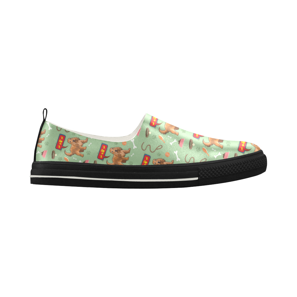 American Cocker Spaniel Pattern Apus Slip-on Microfiber Women's Shoes - TeeAmazing