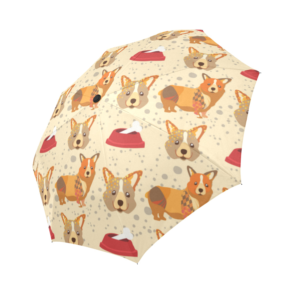 Corgi Pattern Auto-Foldable Umbrella - TeeAmazing