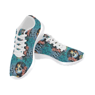Sugar Skull Tattoo White Sneakers Size 13-15 for Men - TeeAmazing