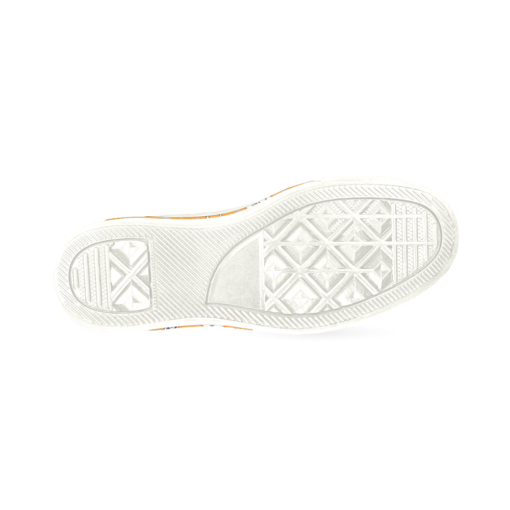 766b3398ad4 ... Jack Russell Terrier Pattern White Women s Classic Canvas Shoes -  TeeAmazing