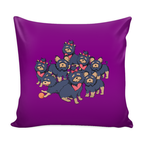 Pattern Yorkshire Terrier Dog Pillow Cover - Yorkshire Terrier Accessories - TeeAmazing