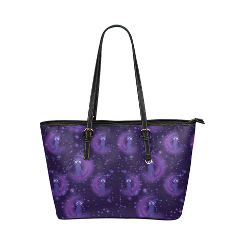 Luna Pattern Leather Tote Bag/Small - TeeAmazing