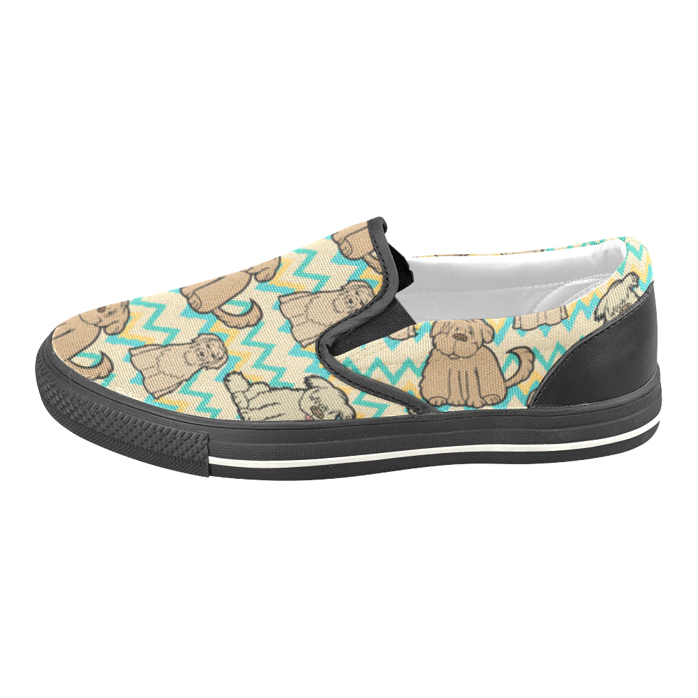Briard Black Women's Slip-on Canvas Shoes/Large Size (Model 019) - TeeAmazing