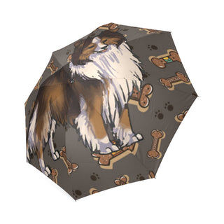 Shetland Sheepdog Dog Foldable Umbrella - TeeAmazing