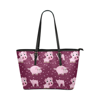 Pig Leather Tote Bag/Small (Model 1651) - TeeAmazing