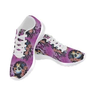 Sugar Skull Candy V1 White Sneakers for Women - TeeAmazing