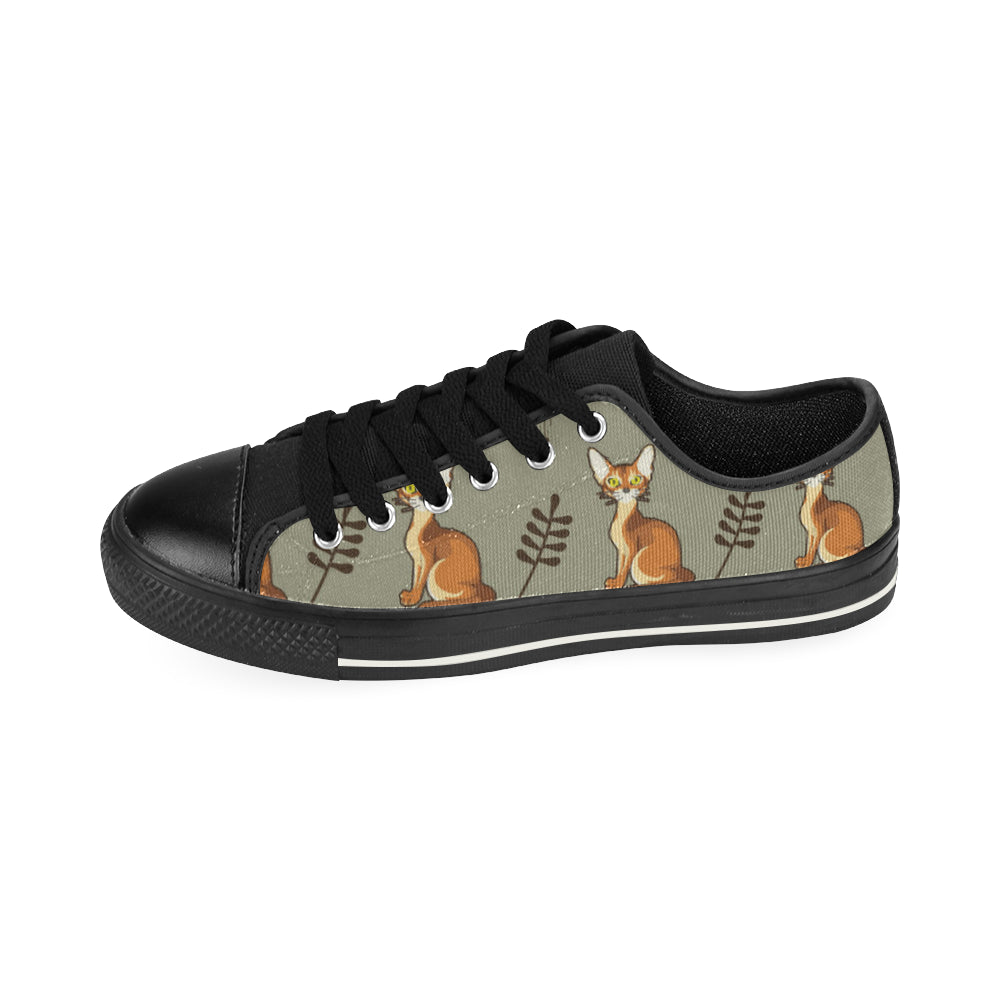 Abyssinian Black Canvas Women's Shoes/Large Size - TeeAmazing