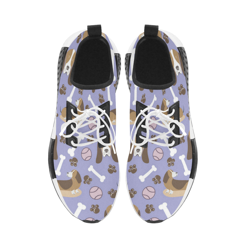 Basset Hound Pattern Men's Draco Running Shoes - TeeAmazing