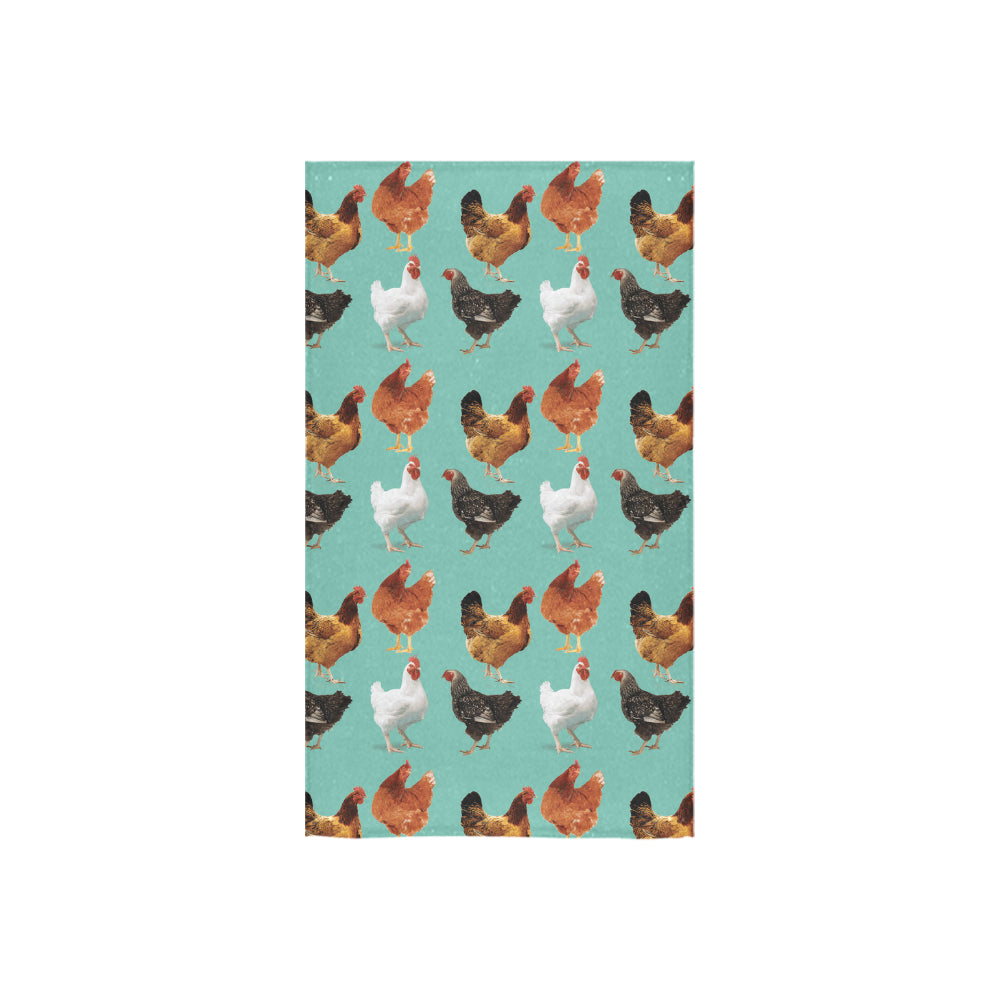 "Chicken Pattern Custom Towel 16""x28"" - TeeAmazing"
