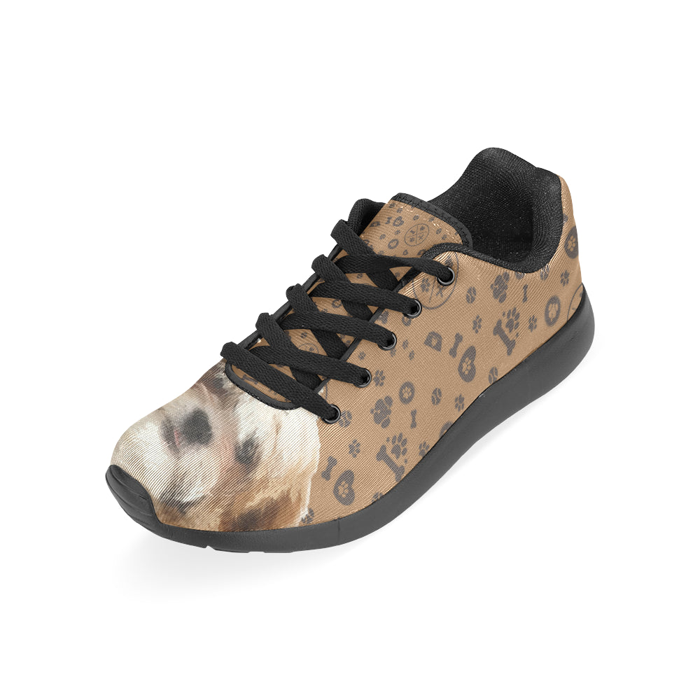 Maltese Shih Tzu Dog Black Sneakers Size 13-15 for Men - TeeAmazing