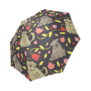 Tibetan Terrier Flower Foldable Umbrella - TeeAmazing