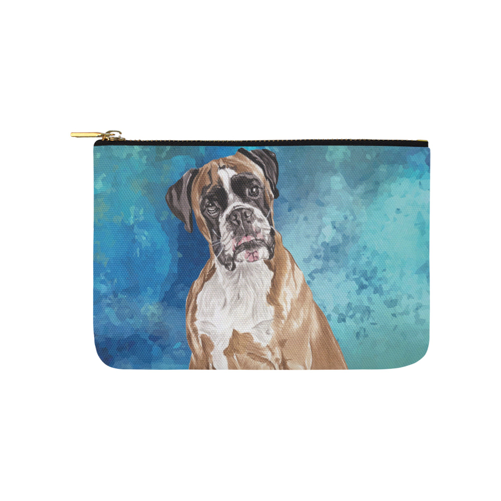 Boxer Water Colour Carry-All Pouch 9.5x6 - TeeAmazing