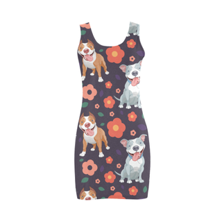Pit bull Flower Medea Vest Dress - TeeAmazing