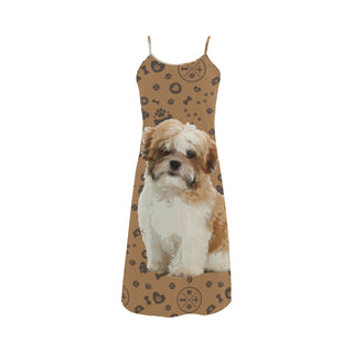 Maltese Shih Tzu Dog Alcestis Slip Dress - TeeAmazing