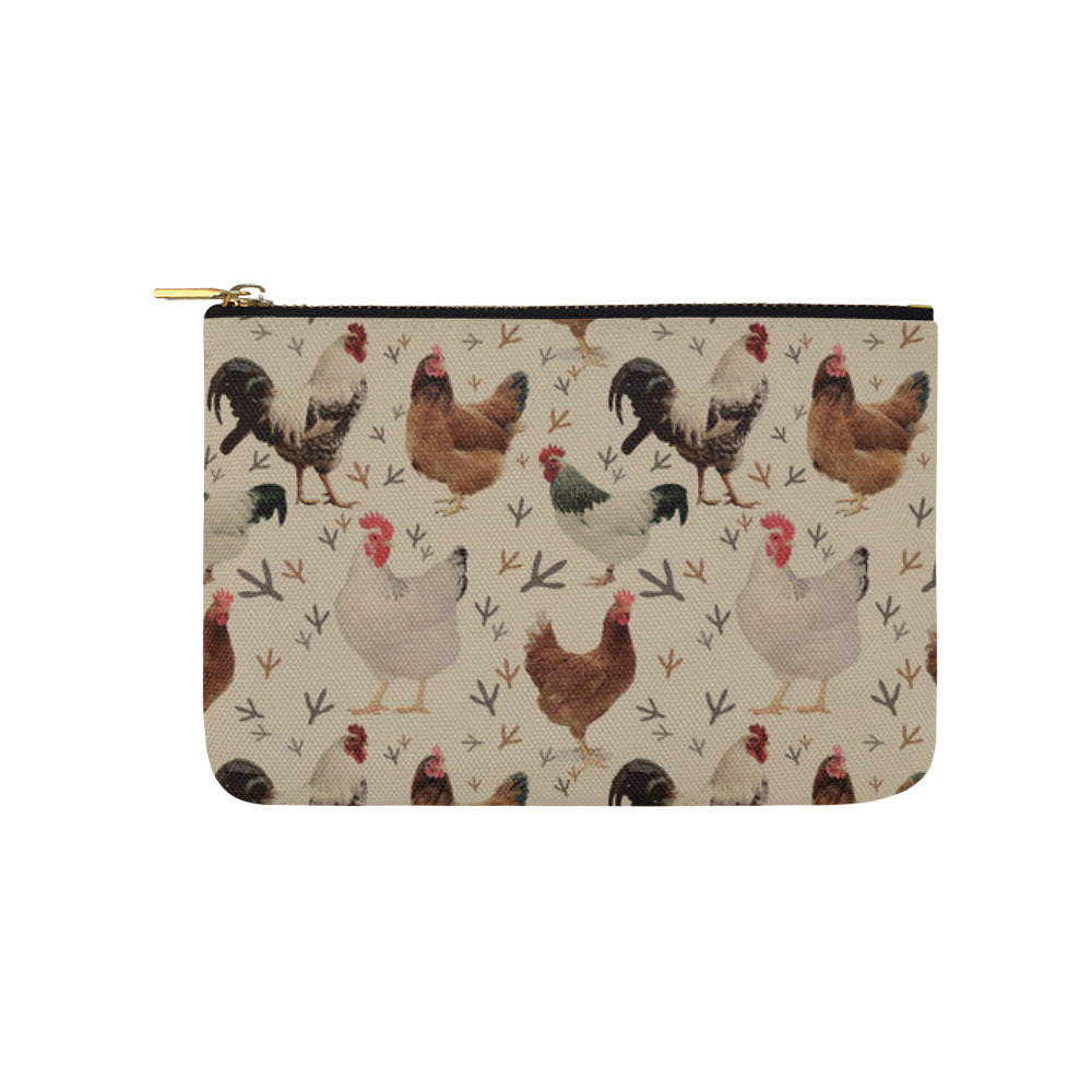 Chicken Carry-All Pouch 9.5x6 - TeeAmazing