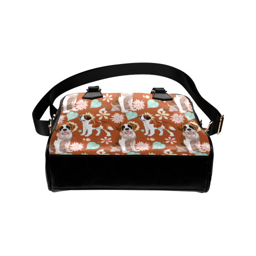 St. Bernard Flower Shoulder Handbag (Model 1634) - TeeAmazing