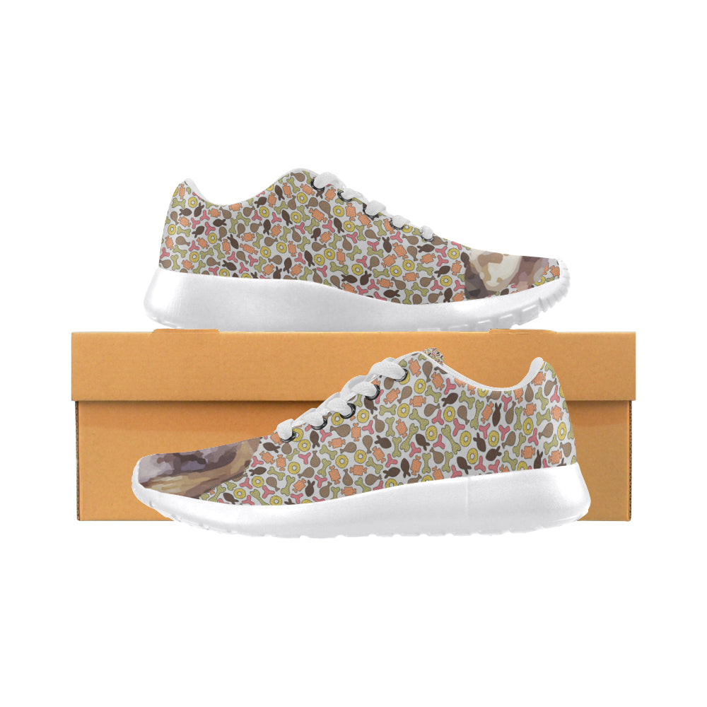 English Setter White Sneakers for Women - TeeAmazing