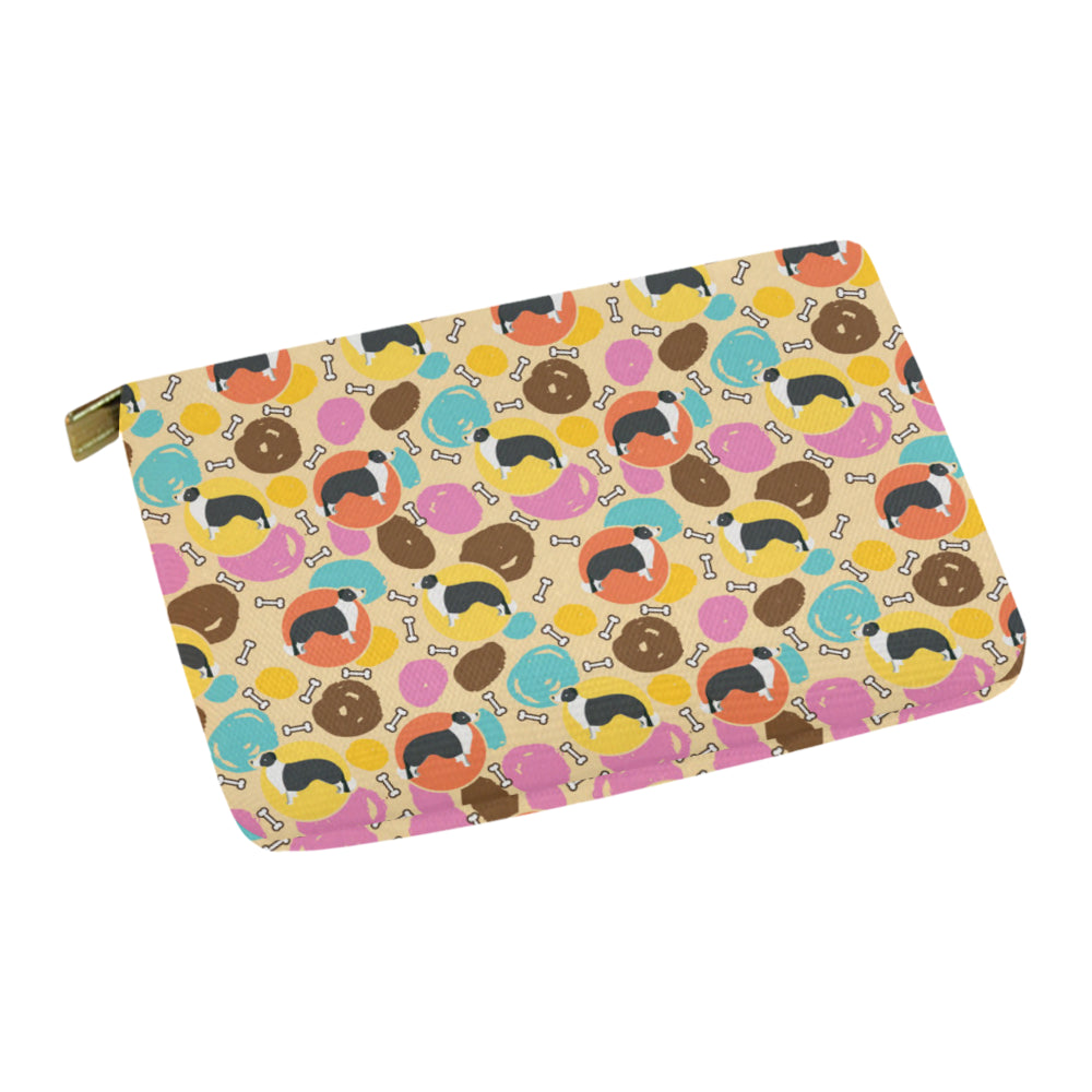 Border Collie Pattern Carry-All Pouch 12.5x8.5 - TeeAmazing