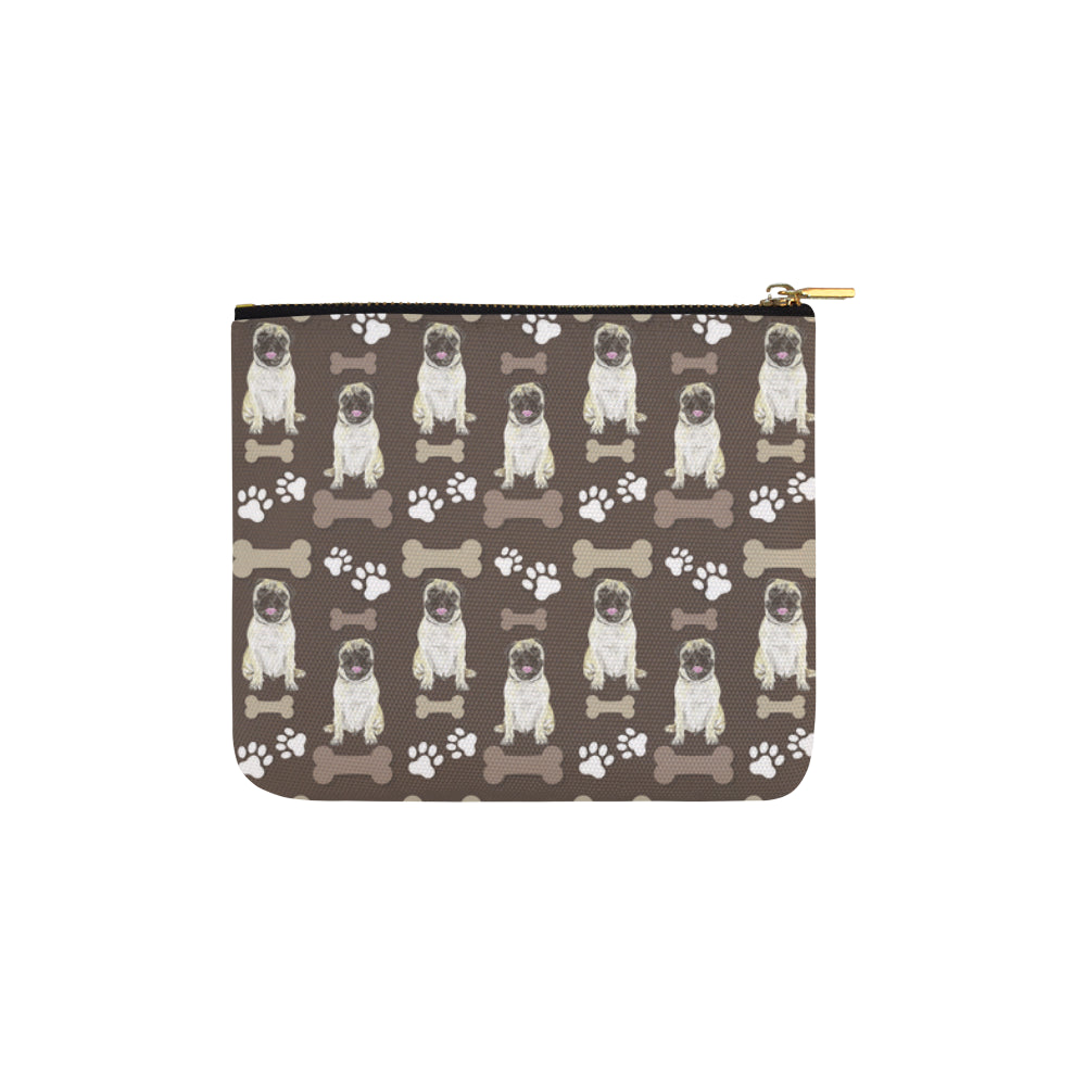Pug Water Colour Pattern No.1 Carry-All Pouch 6x5 - TeeAmazing
