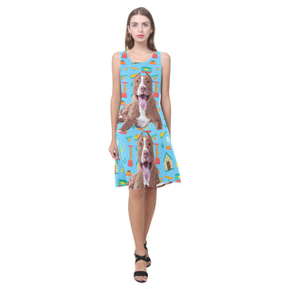 Pit bull Sleeveless Splicing Shift Dress - TeeAmazing