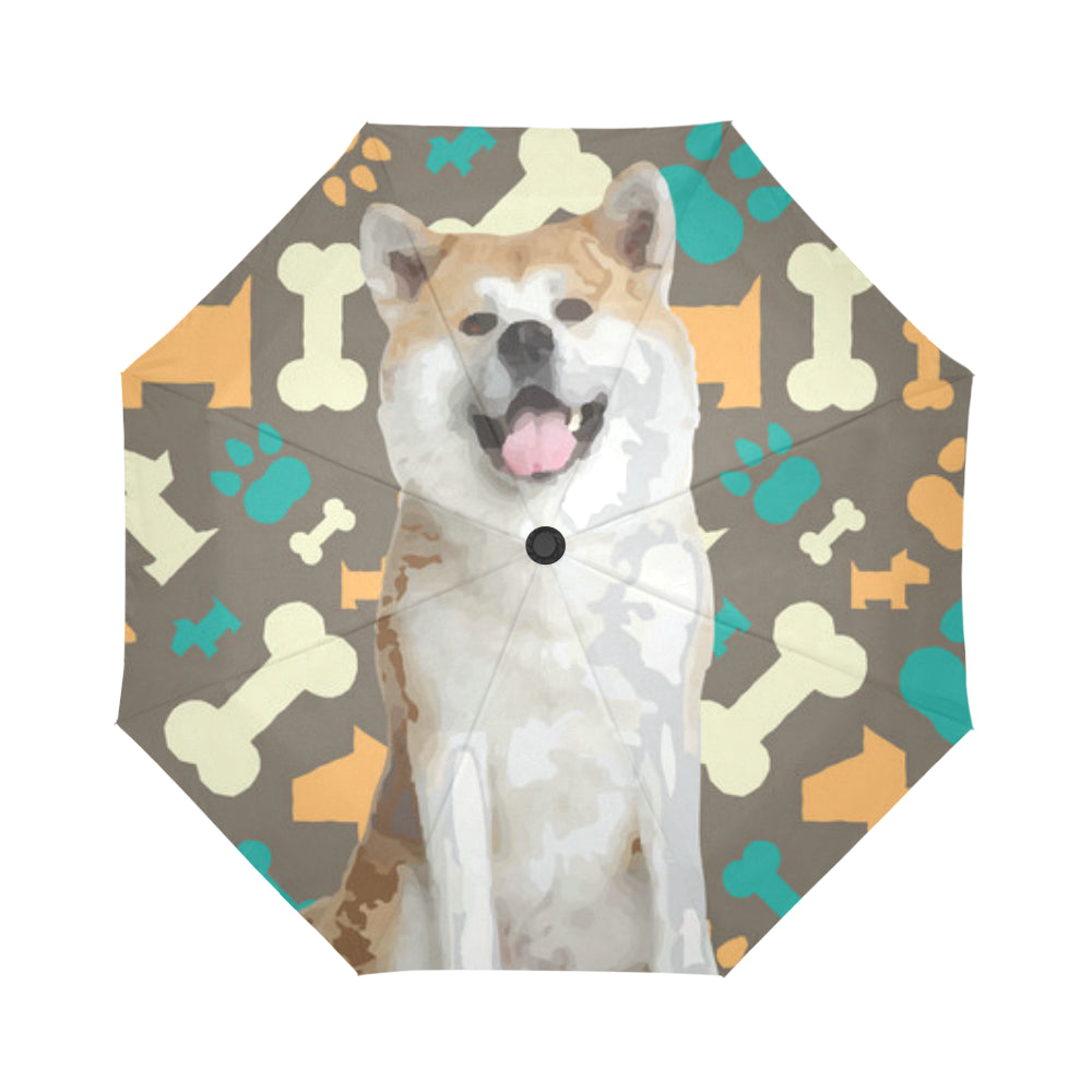 Akita Auto-Foldable Umbrella - TeeAmazing
