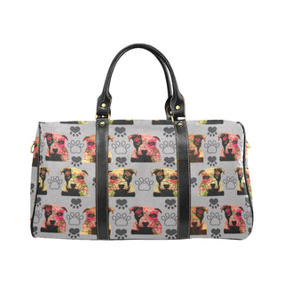 Pit Bull Pop Art Pattern No.1 New Waterproof Travel Bag/Large - TeeAmazing