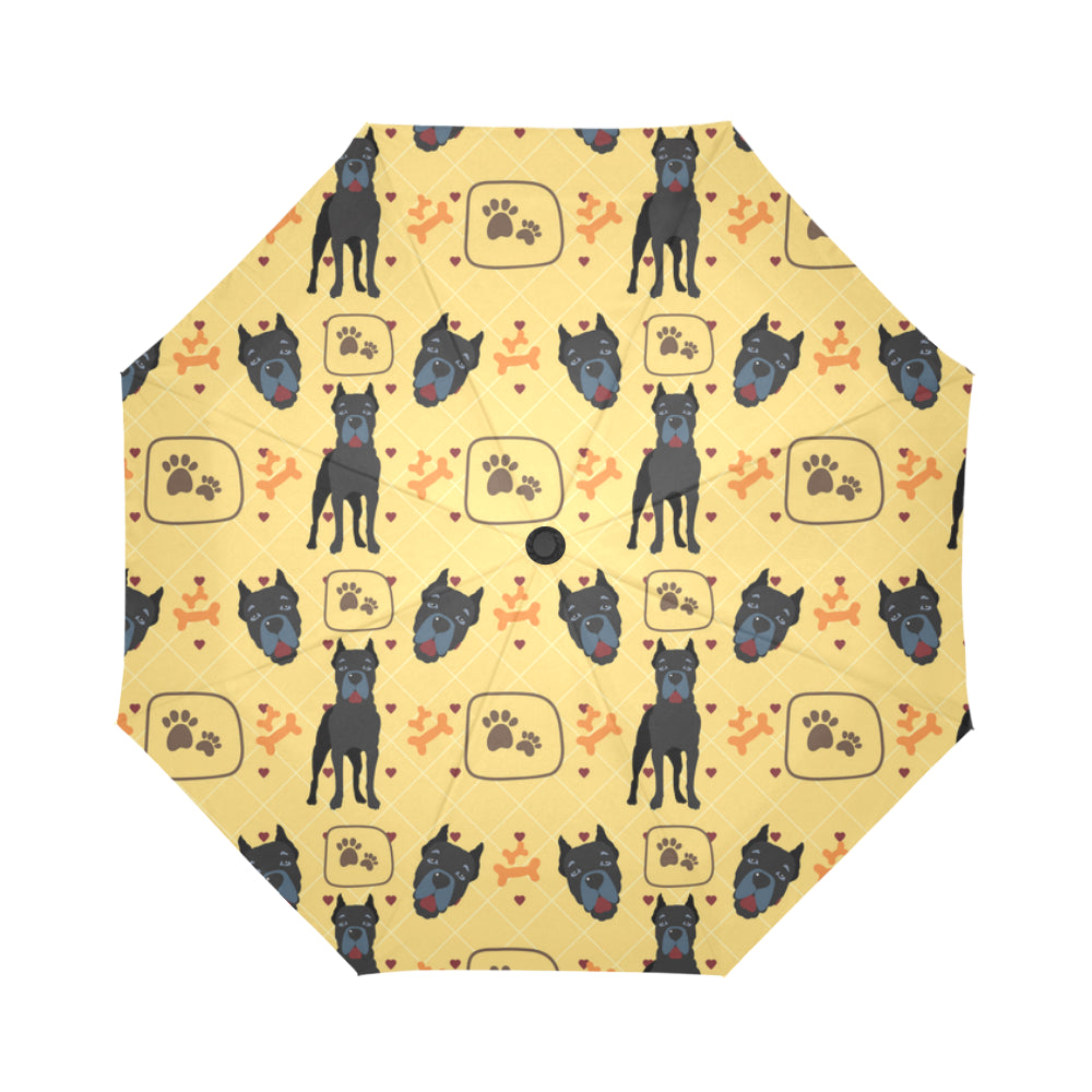 Cane Corso Pattern Auto-Foldable Umbrella - TeeAmazing