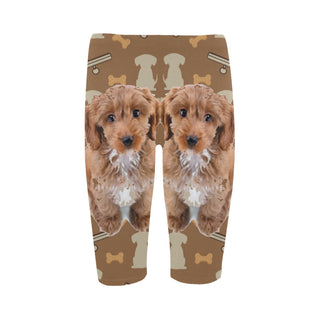 Cockapoo Dog Hestia Cropped Leggings (Model L03) - TeeAmazing