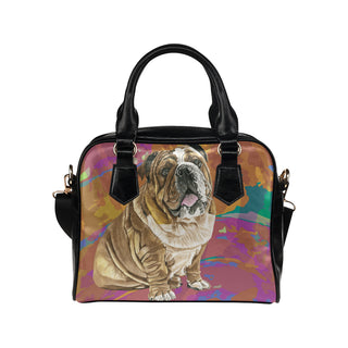 English Bulldog Water Colour No.2 Shoulder Handbag - TeeAmazing