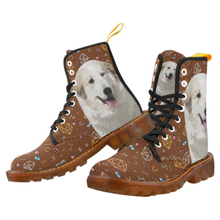 Great Pyrenees Dog Black Boots For Women - TeeAmazing