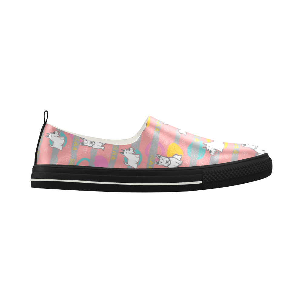 Scottish Terrier Pattern Apus Slip-on Microfiber Women's Shoes - TeeAmazing