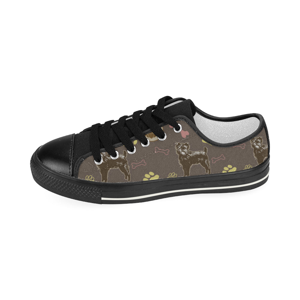 Affenpinschers Pattern Black Women's Classic Canvas Shoes - TeeAmazing