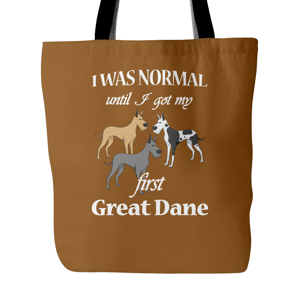 First Great Dane Dog Tote Bags - Great Dane Bags - TeeAmazing