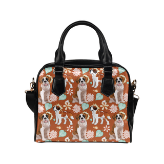 St. Bernard Flower Shoulder Handbag - TeeAmazing