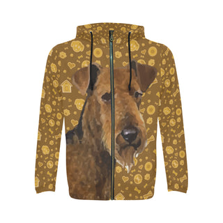Welsh Terrier Dog All Over Print Full Zip Hoodie for Men - TeeAmazing