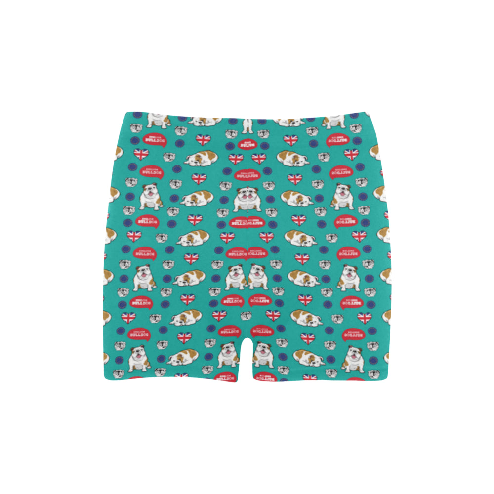 English Bulldog Briseis Skinny Shorts - TeeAmazing