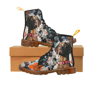 Vizsla Black Boots For Women - TeeAmazing