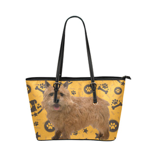 Norwich Terrier Dog Leather Tote Bag/Small - TeeAmazing