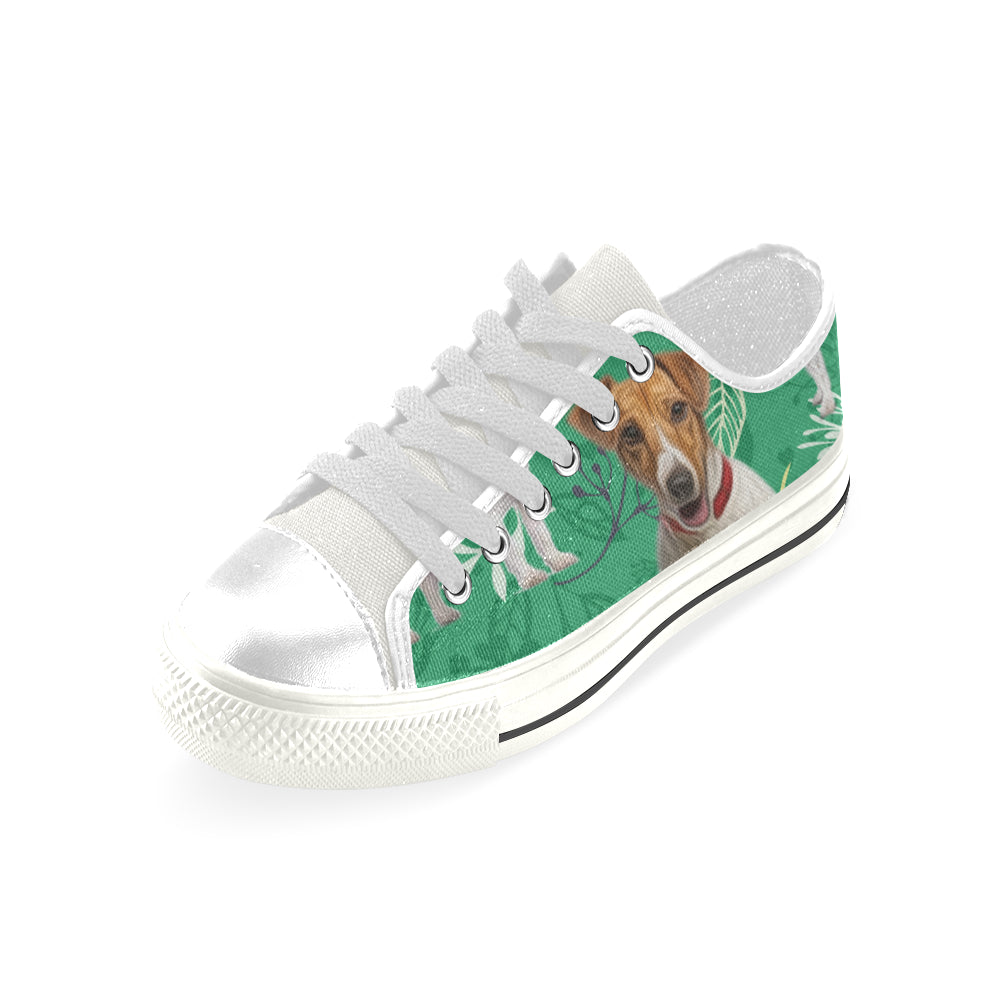 c49439c1045 ... Jack Russell Terrier Lover White Men s Classic Canvas Shoes - TeeAmazing