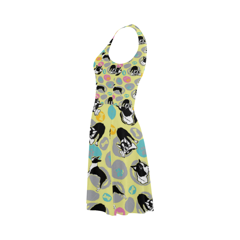 Boston Terrier Pattern Atalanta Sundress - TeeAmazing