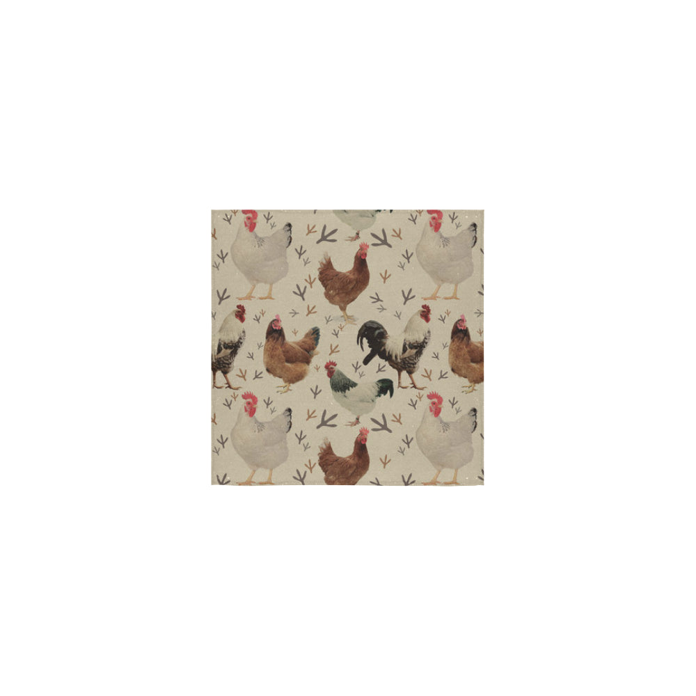 Chicken Square Towel 13x13 - TeeAmazing