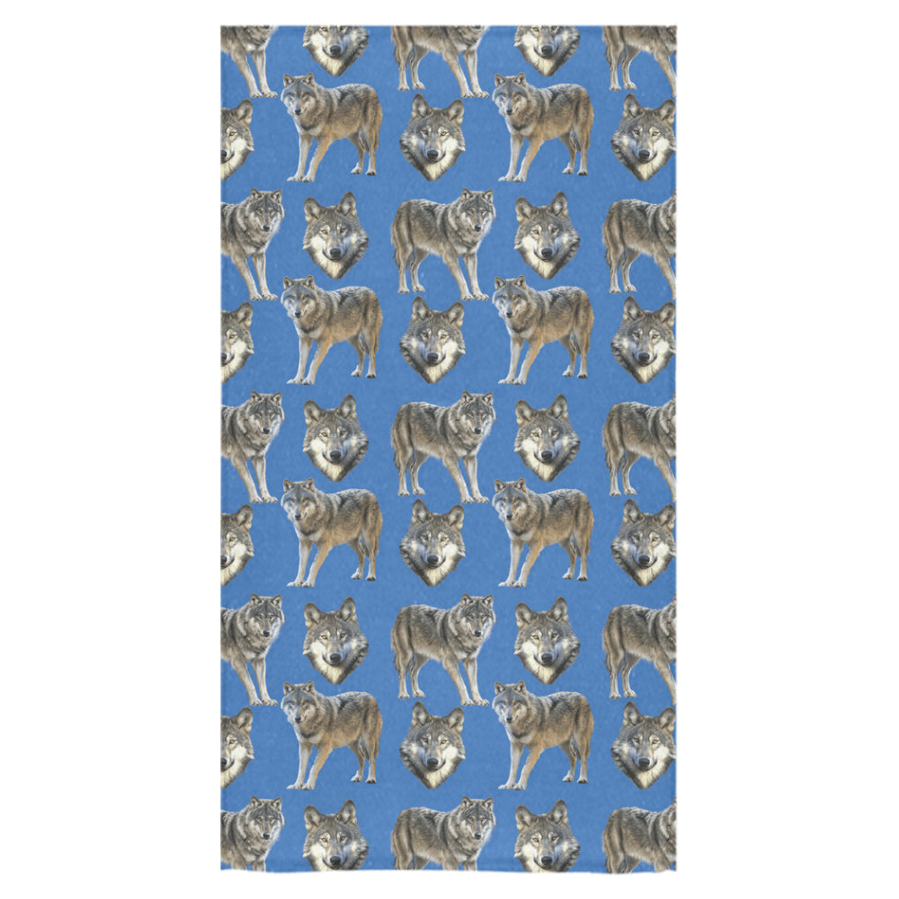 "Wolf Pattern Bath Towel 30""x56"" - TeeAmazing"
