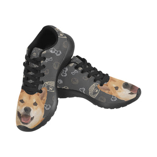 Shiba Inu Dog Black Sneakers for Men - TeeAmazing