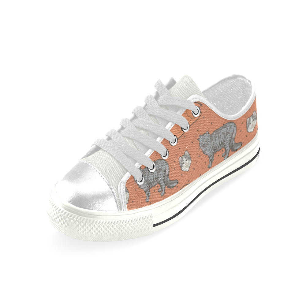 American Curl White Women's Classic Canvas Shoes - TeeAmazing
