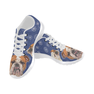 English Bulldog Lover White Sneakers for Women - TeeAmazing