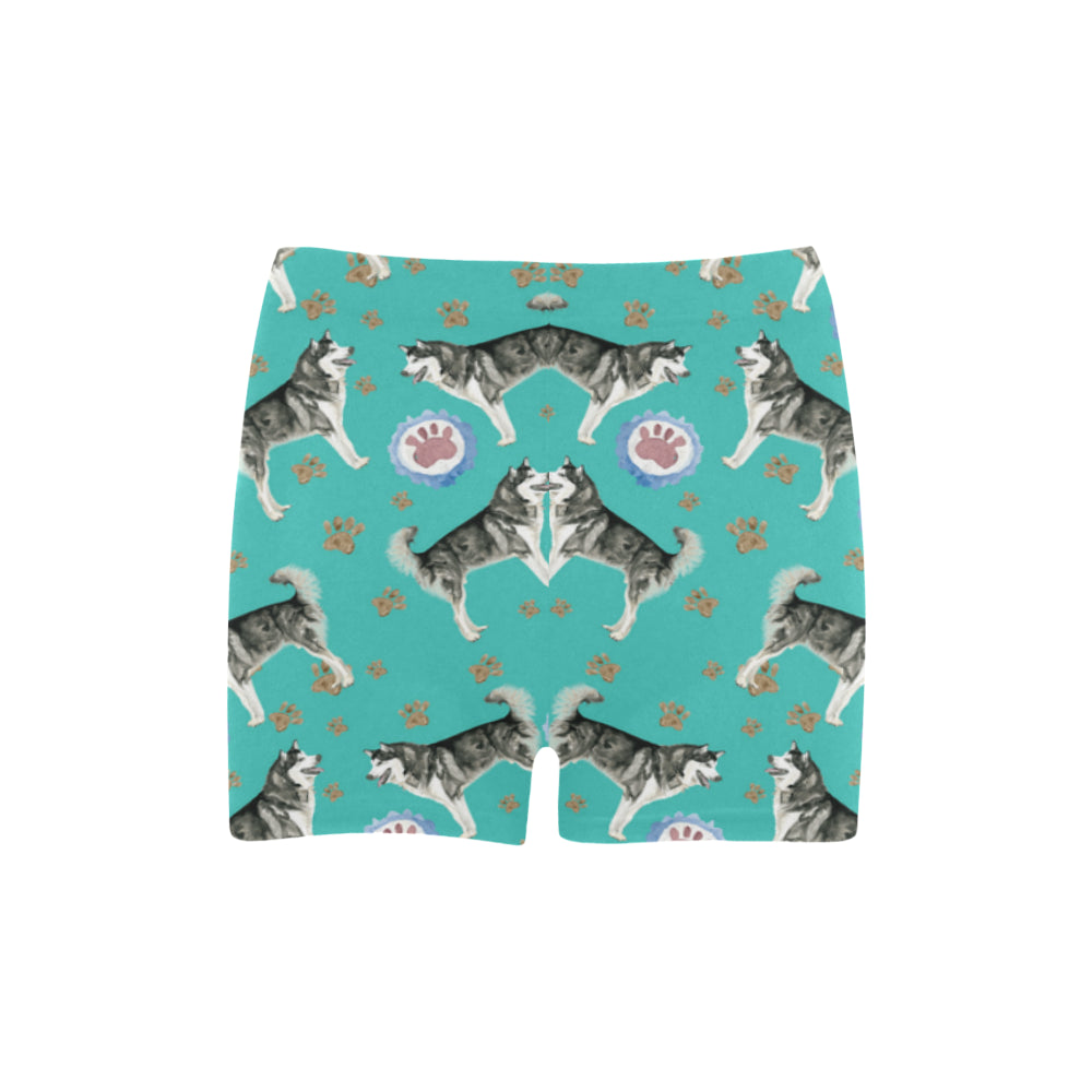 Alaskan Malamute Water Colour Pattern No.1 Briseis Skinny Shorts - TeeAmazing