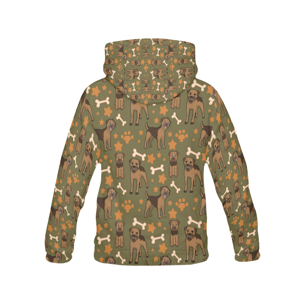 Border Terrier Pattern All Over Print Hoodie for Men - TeeAmazing